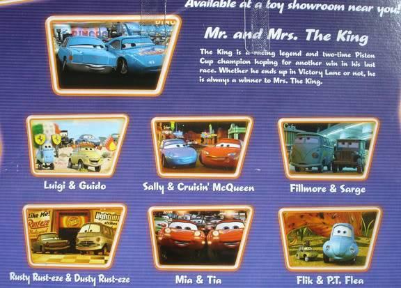 Les petites voitures du dessin animé CARS - Disney Pixar MMback