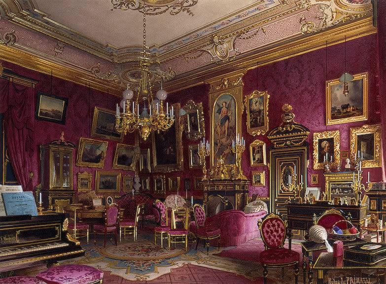 Palacios de la nobleza TheStudyofBaronessStieglitz-1