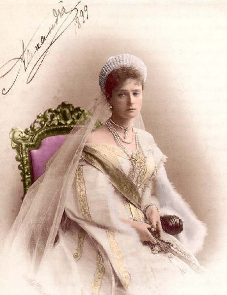 Vestido oficial de los Romanovs Alexandra