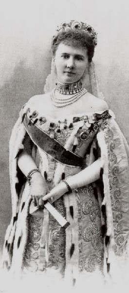 Vestido oficial de los Romanovs GrandDuchessElisabethMavrikievna