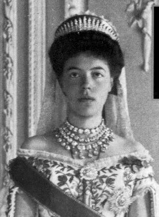 Vestido oficial de los Romanovs Olgaalexandrovna