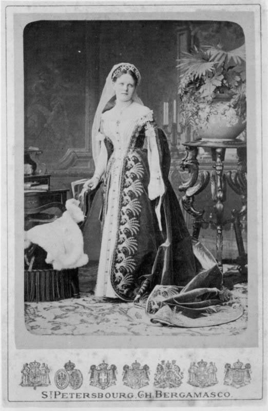 Vestido oficial de los Romanovs PrincessMariaSergievnaScherbatoff