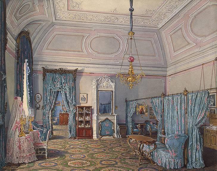 Los palacios de los Romanovs TheBedroomofGrandPrincessMariaAlexa