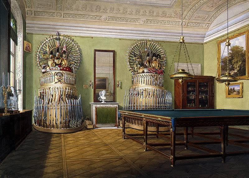 Los palacios de los Romanovs TheBilliardRoomofEmperorAlexanderII