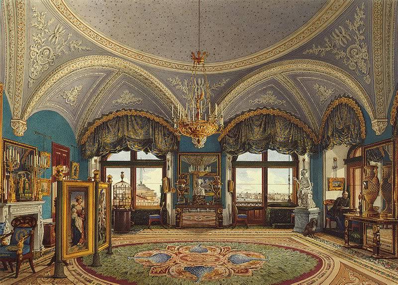 Los palacios de los Romanovs TheCornerDrawing-RoomofEmperorNicho