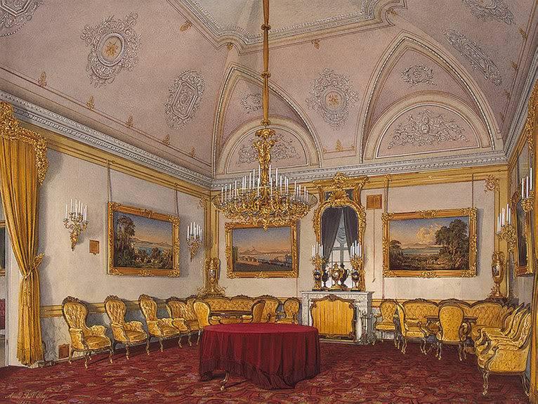 Los palacios de los Romanovs TheDrawing-Room