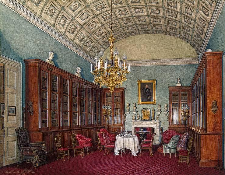Los palacios de los Romanovs TheLibraryofEmperorAlexanderII