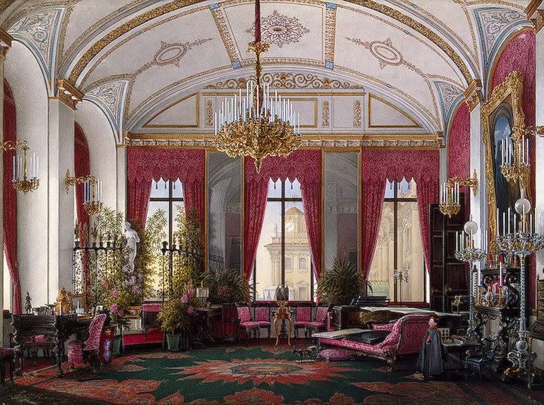 Los palacios de los Romanovs TheRaspberryStudyofEmpressMariaAlex