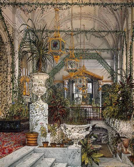 Los palacios de los Romanovs TheWinterGardenofEmpressAlexandraFy