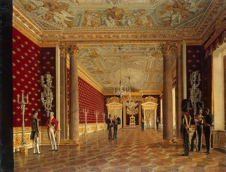 Los palacios de los Romanovs ThroneRoomofEmpressMariaFiodorovna1