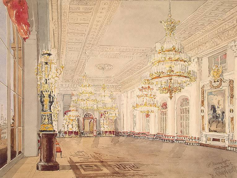 Los palacios de los Romanovs Nicholashall