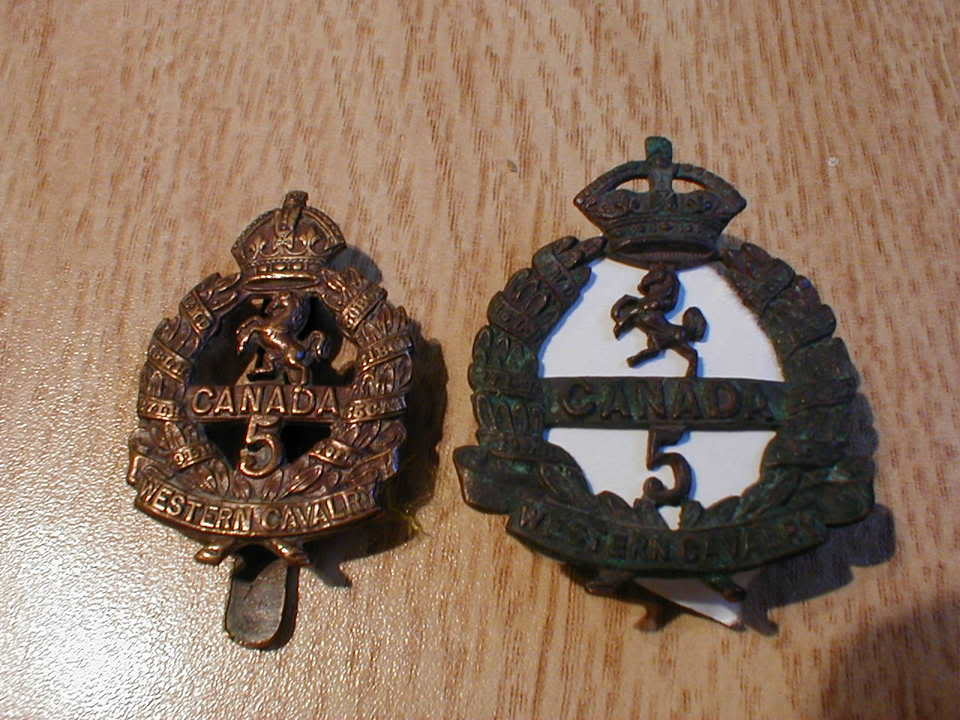 5th Infantry Bn. Western Canadian Cavalry Badge P1010014