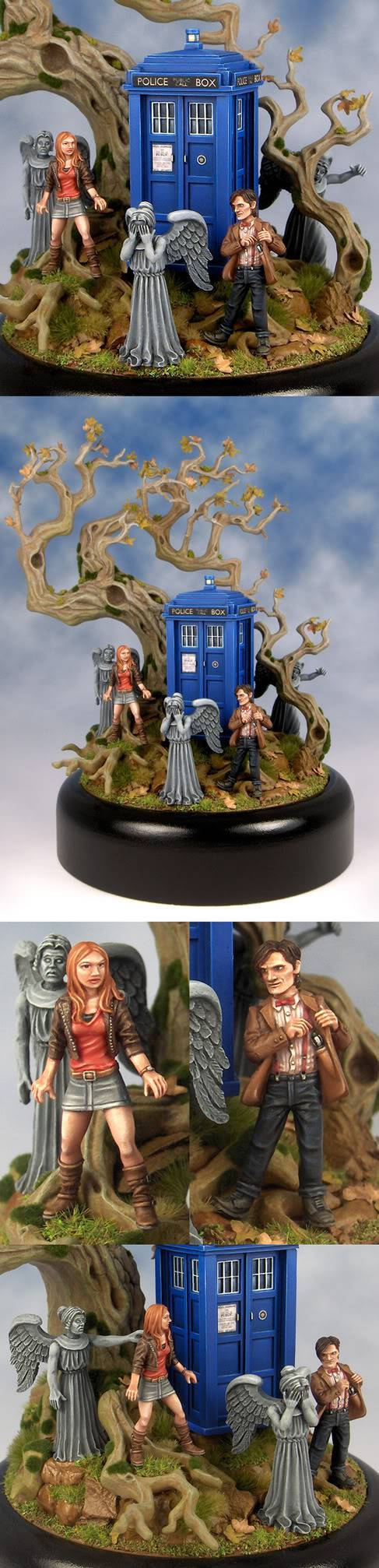 """Into the woods - The Doctor, Amy, and the Weeping Angels par David Soper """"Sproket"""" Into-the-woods-2-1"""