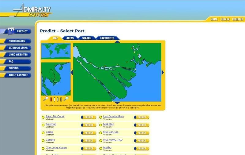 Admiralty Easy Tide - trang web giúp dự báo thủy triều trực tuyến AETide1