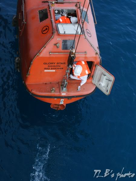 [Hình ảnh] Thực tập hạ xuồng cứu sinh 020