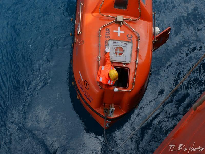 [Hình ảnh] Thực tập hạ xuồng cứu sinh 030