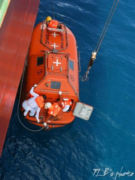 [Hình ảnh] Thực tập hạ xuồng cứu sinh 031