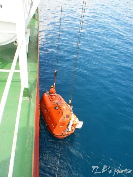 [Hình ảnh] Thực tập hạ xuồng cứu sinh 033