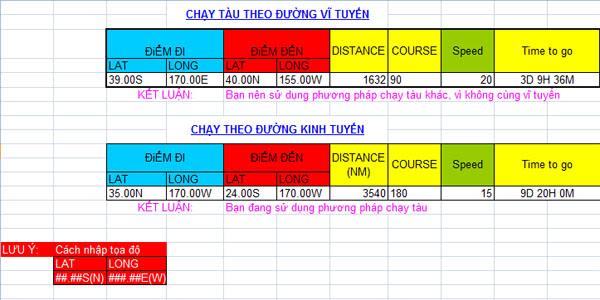 Các bài toán hàng hải giải bằng Excel Excel_chaytau_vtkt