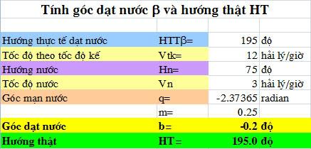 Các bài toán hàng hải giải bằng Excel Excel_gocdatnuoc_ht