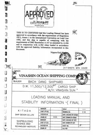 Hồ sơ tàu tham khảo cho môn Xếp dỡ hàng hóa Vinashin_sun