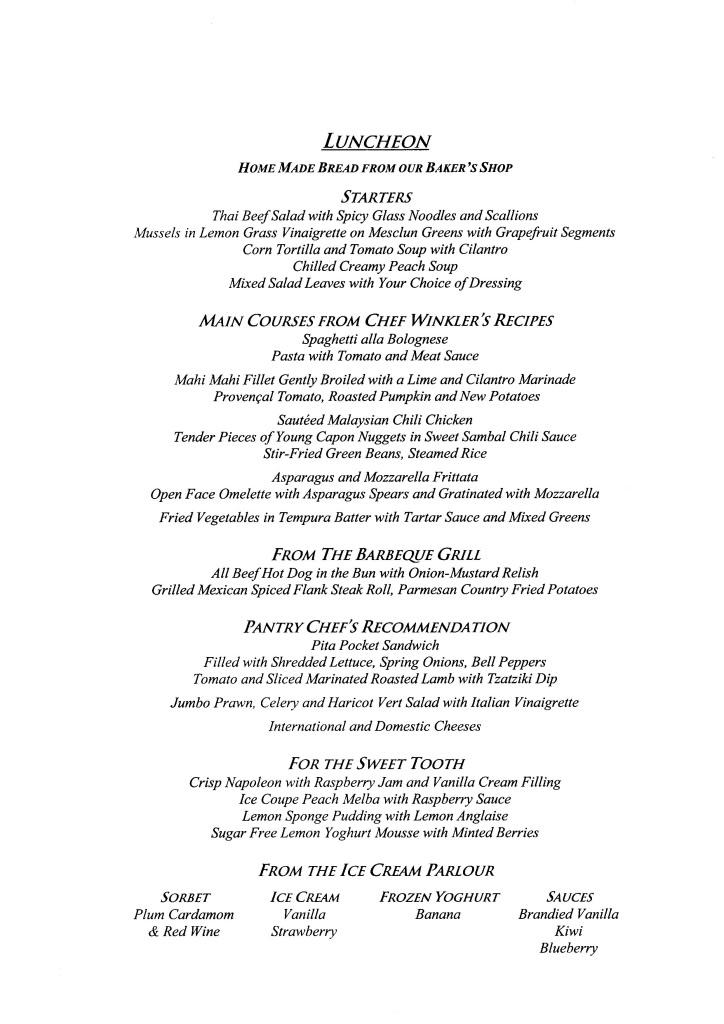 QE2 Restaurants Menus Lunch021108