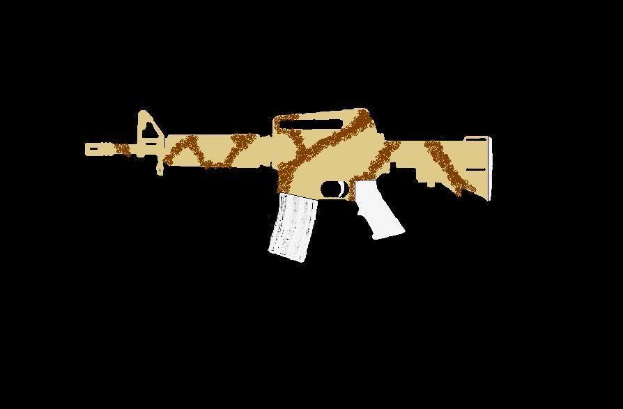 Comment faire une peinture Camo, sur AR-15 Commando ProjetARCAMO03