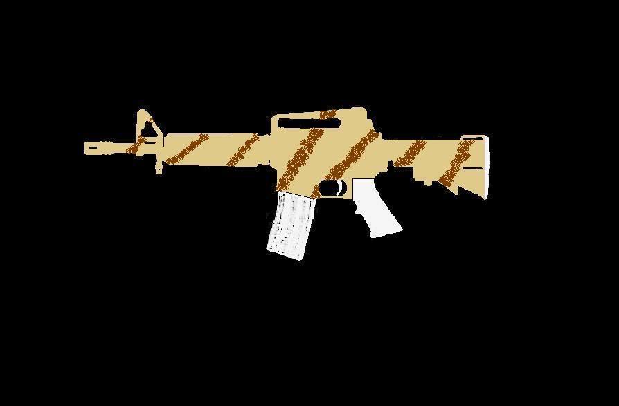 Comment faire une peinture Camo, sur AR-15 Commando ProjetARCAMO04