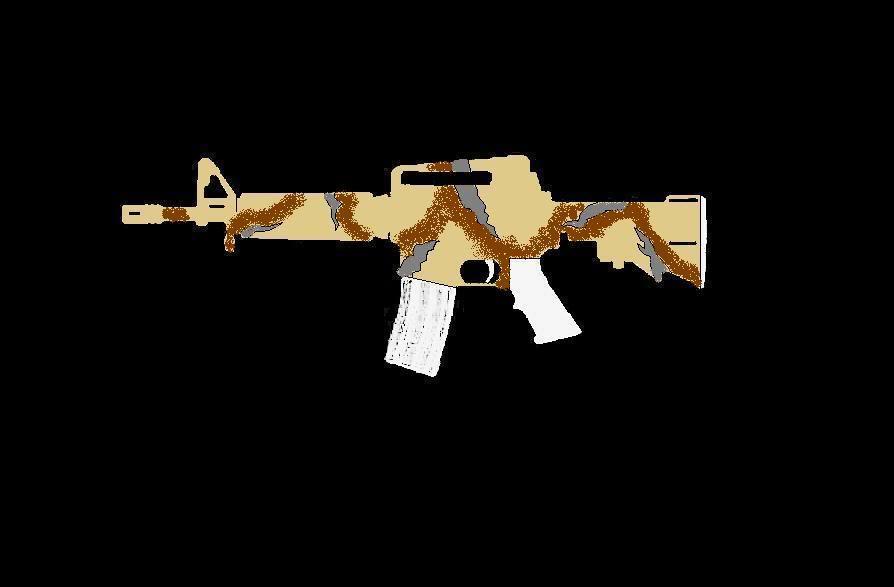 Comment faire une peinture Camo, sur AR-15 Commando ProjetARCAMO07