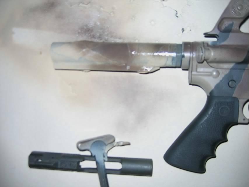 Comment faire une peinture Camo, sur AR-15 Commando Step05