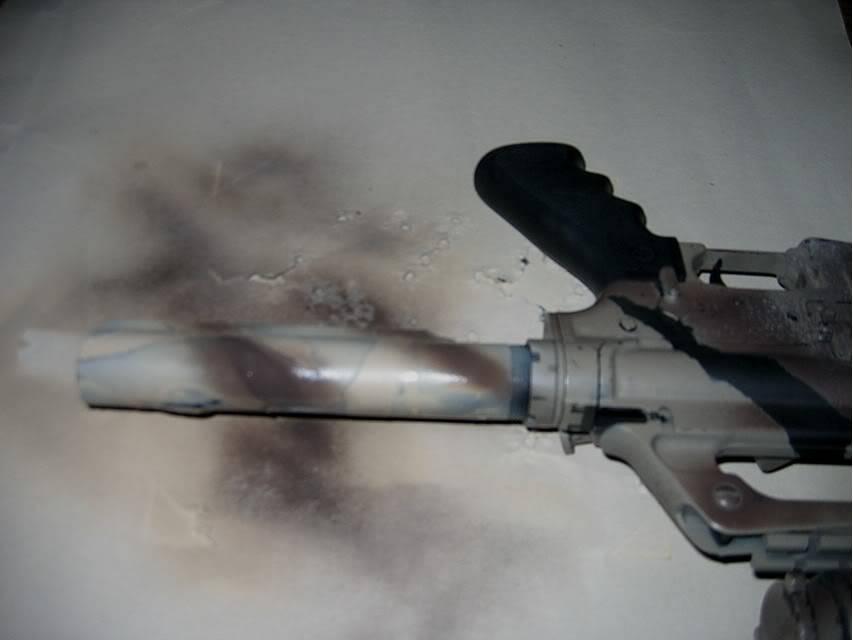 Comment faire une peinture Camo, sur AR-15 Commando Step05a