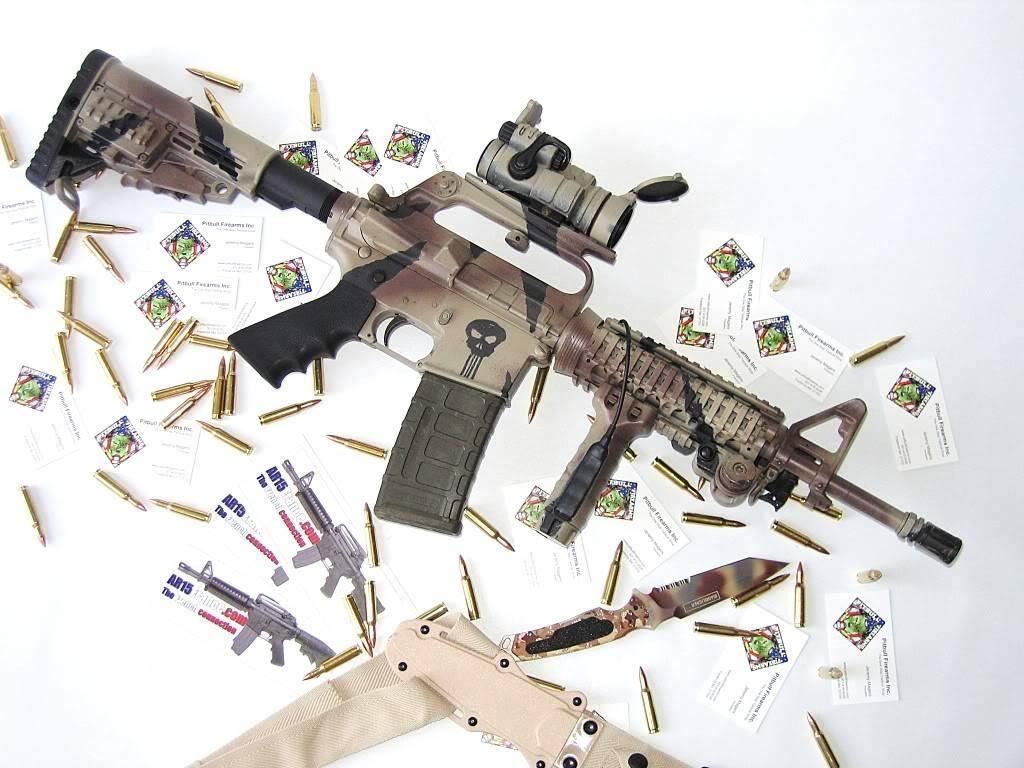 Comment faire une peinture Camo, sur AR-15 Commando C02