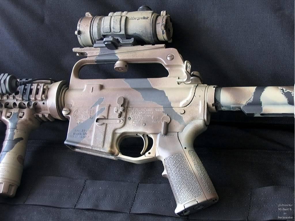 Comment faire une peinture Camo, sur AR-15 Commando Arup03