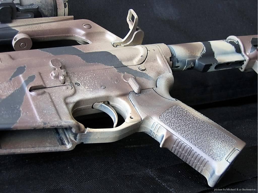 Comment faire une peinture Camo, sur AR-15 Commando Arup04