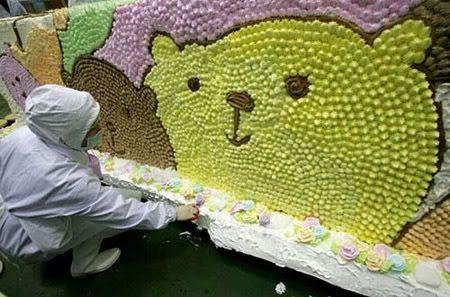 اكبر كعكة ايس كريم في العالم ++ أكبر كيكة ايس كريم مع آوريو  Efe