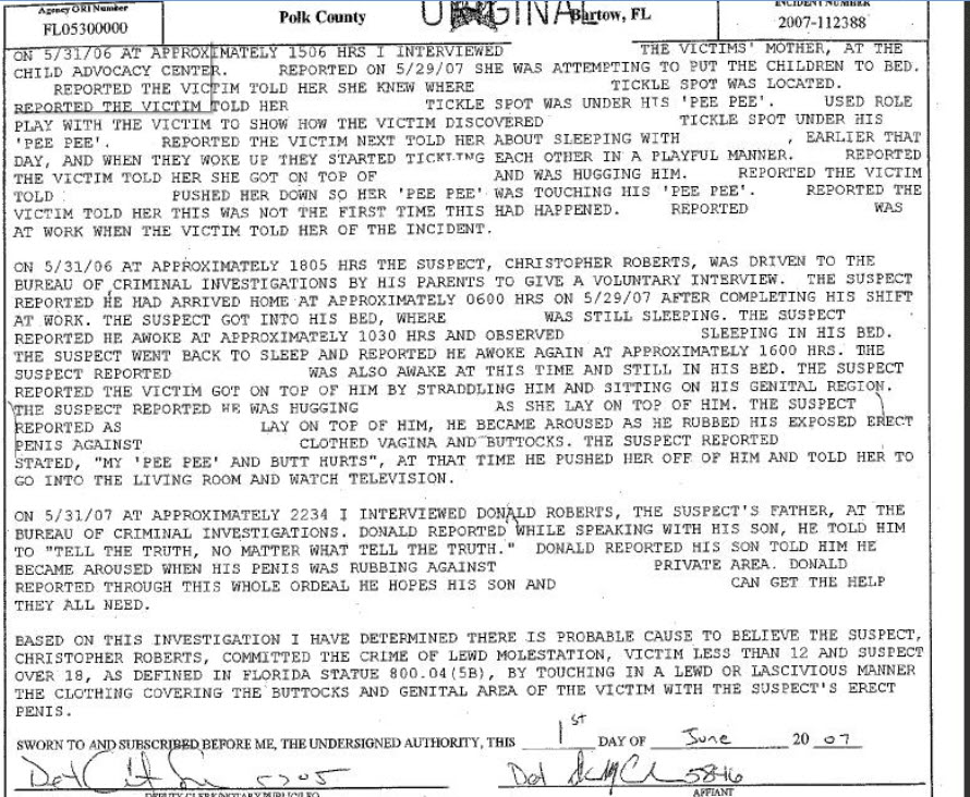 Trenton Duckett/Revisiting the case of Trenton Duckett - Page 2 ChristopherRobertspolicereportpg2