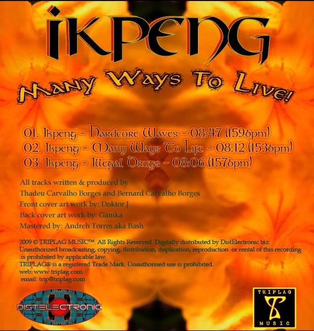 [EP] IKPENG - Many Ways To Live! (Triplag Music) Ikpeng_EP-back_web