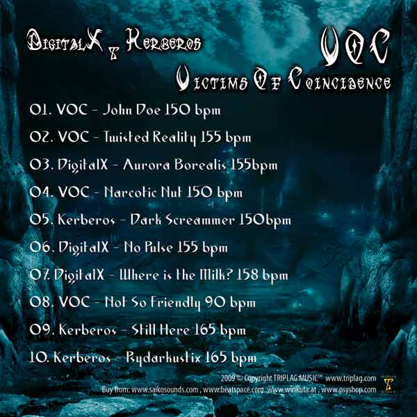 [CD] DigitalX, Kerberos & VOC - Victims Of Coincidence Voc-back