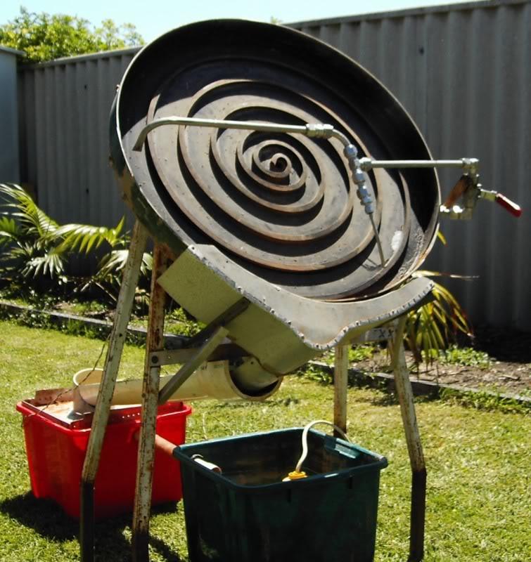 Camp cooker, gold wheel, Gold Pipe Goldwheel2