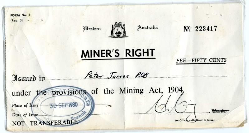 A Miners Right - what does it give us? MinersRight