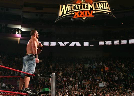 John Cena, Triple H & Trish Stratus vs Team Rated RKO CenawinRR2008