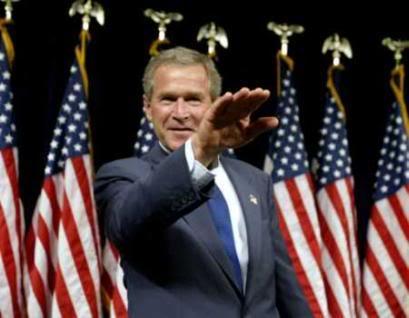 Foto escandalosa del presidente Santos de Colombia Bush-salute