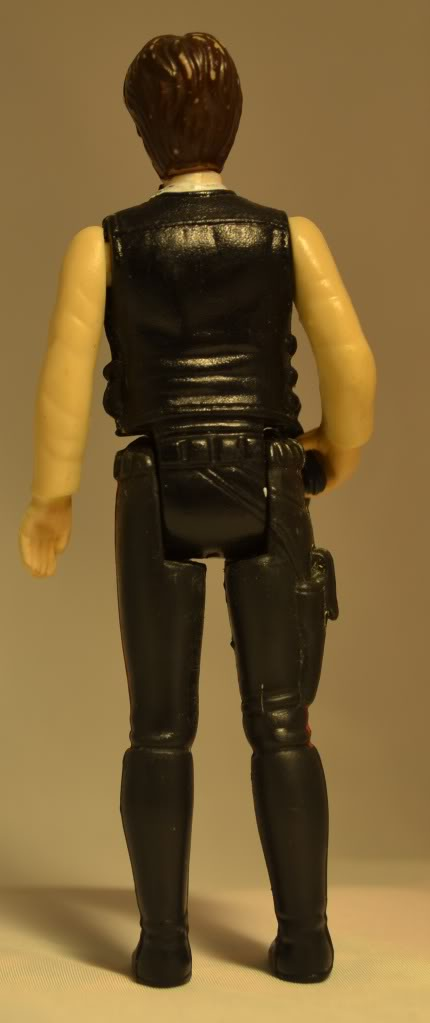 Han solo with raised knob on beltbuckle Germanhan-back