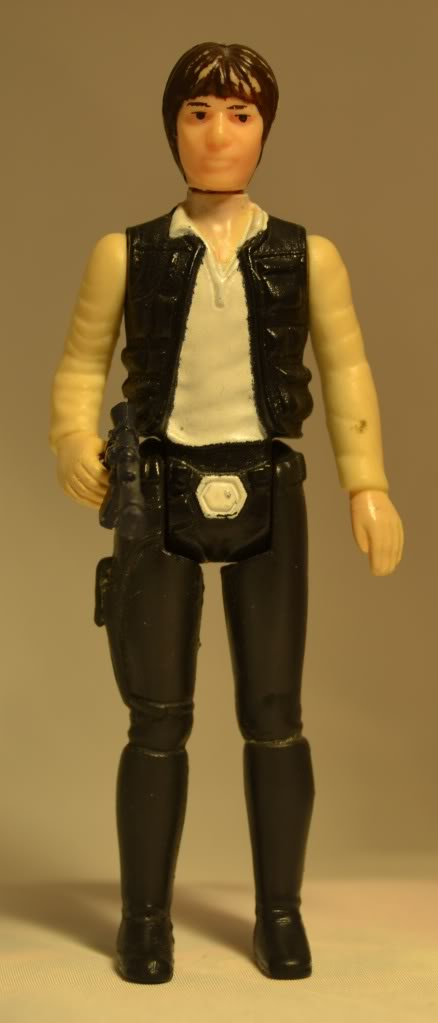 Han solo with raised knob on beltbuckle Germanhan-front