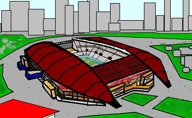 Propuestas para nuevos estadios en el pais. ChozaStadium