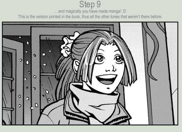 Como hacer tramados manga en Photoshop Mangatonin9
