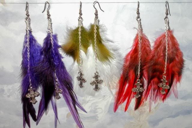 Charmed Feather Earrings P4030001