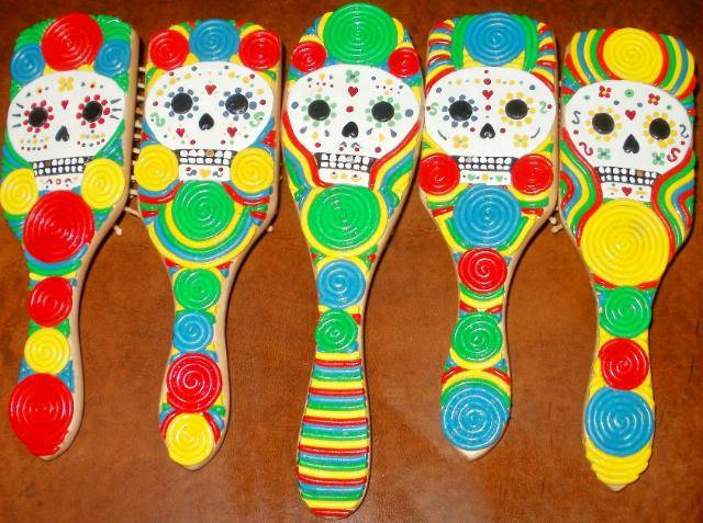 The Brush is back! Dia De Los Muertos skull brushes and more! P5310002