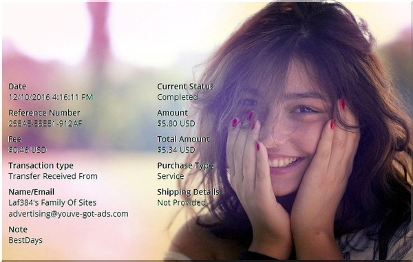 PapaiMark recebe pagamentos de Homesteadmails, Best-days e Silvester-mails BD