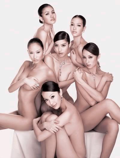 Các siêu mẫu Đài Loan ko cần mặc quần áo 01